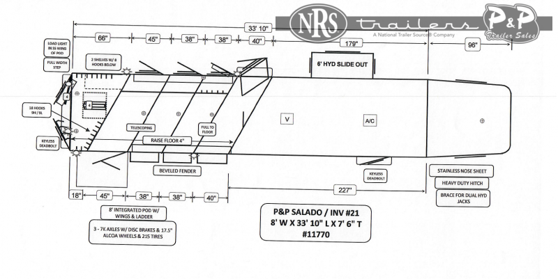 2022 Bloomer 8415PCOL 4 Horse Slant Load Trailer 15 FT LQ With Slides w/ Ramps