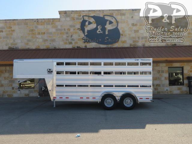 "2021 CM CMS2040-16 Roundup AL 80"" x 16 ' Livestock Trailer"