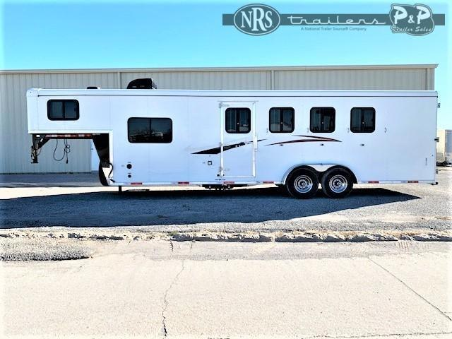 2021 Bison Trailers Quick Draw QD7408 4 Horse Slant Load Trailer 8 FT LQ