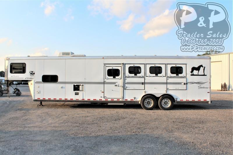 2006 Sundowner Trailers 4H 12SW 4 Horse Slant Load Trailer 12 FT LQ