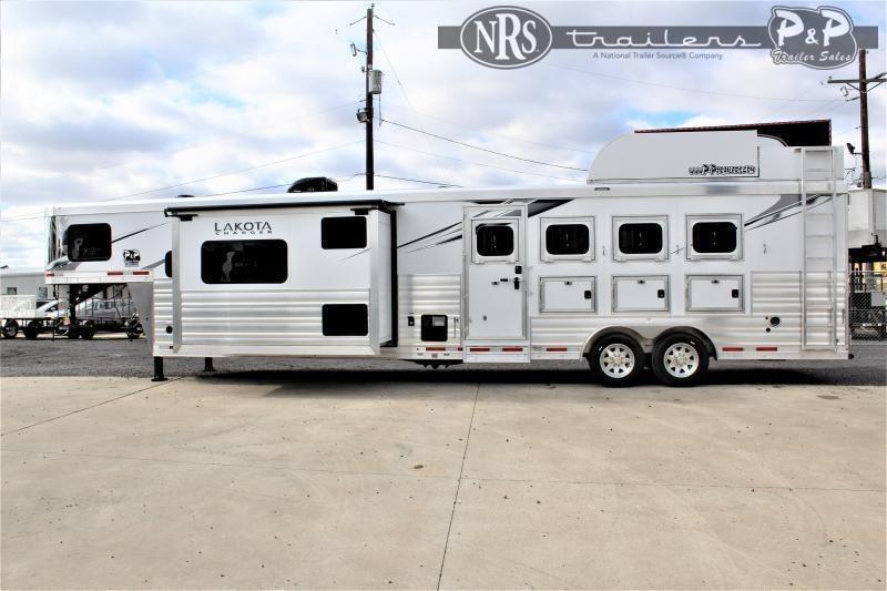2022 Lakota Charger C8415SRB 4 Horse Slant Load Trailer 15 FT LQ w/ Slideouts