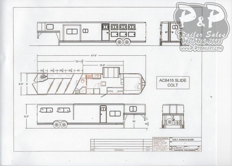 2021 Lakota Colt AC8415 4 Horse Slant Load Trailer 15 FT LQ With Slides