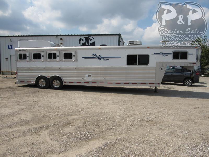 2008 Platinum Coach 8410 4 Horse Slant Load Trailer 10 FT LQ