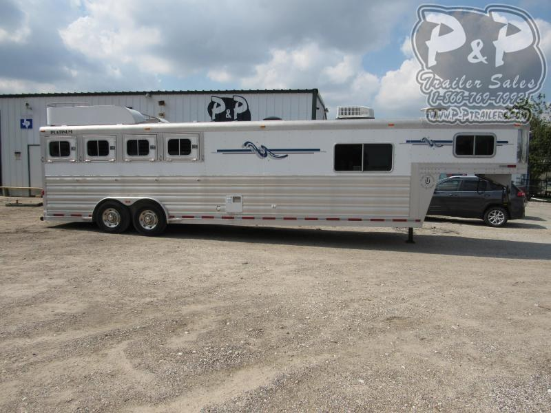 2008 Platinum Coach 8410 4 Horse Slant Load Trailer 10 FT LQ