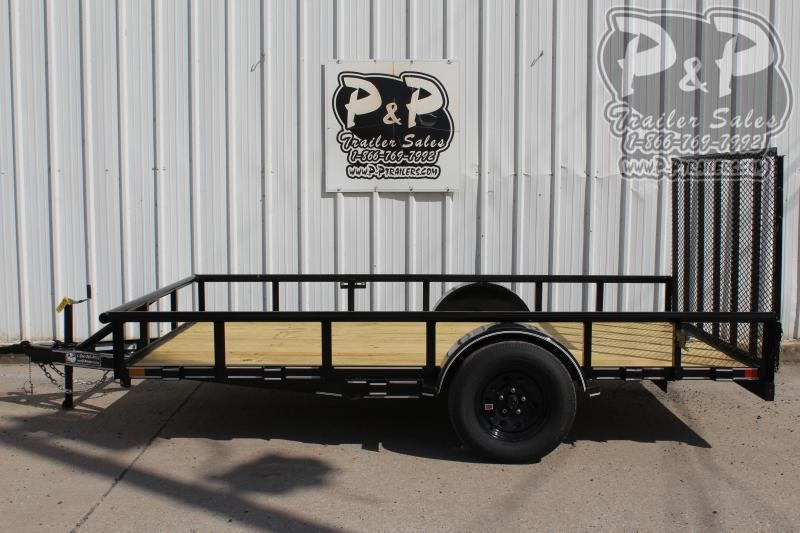 "2021 P and P PPSA12X83LDRGPT 83"" x 12 ' Utility Trailer"