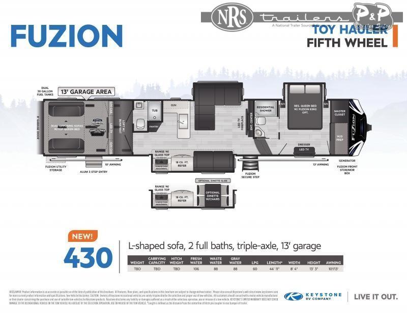 2021 Keystone RV Fuzion 430 43 ' Toy Hauler RV