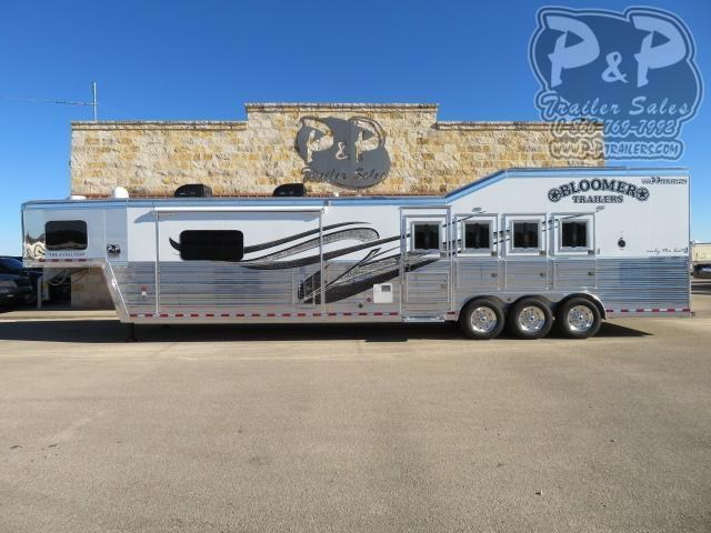 2021 Bloomer PC 8418PCOLCE PC Load Outlaw Conversions 4 Horse Slant Load Trailer 18 FT LQ With Slides w/ Ramps