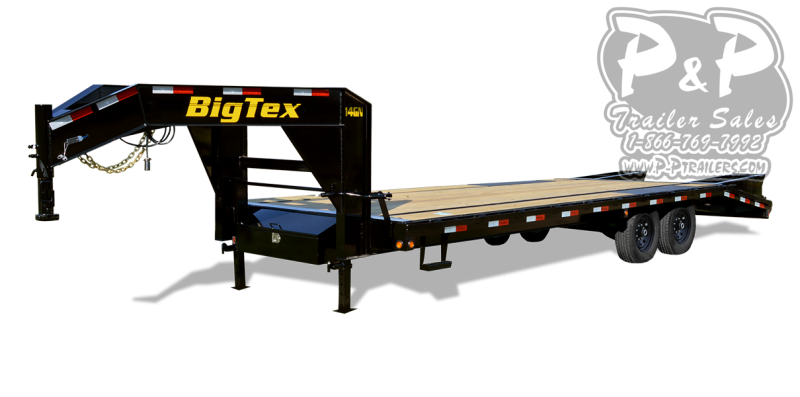 2021 Big Tex Trailers 14GN-25BK+5MR Flatbed Trailer