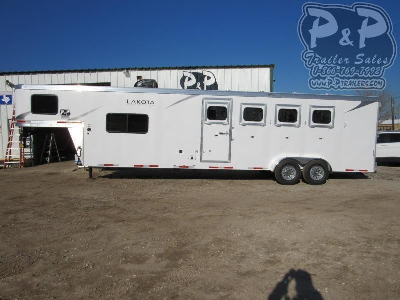 2021 Lakota Colt AC411NS 4 Horse Slant Load Trailer 11 FT LQ