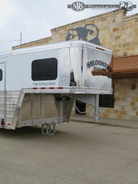 2021 Bloomer 8415PCOL 4 Horse Slant Load Trailer 15 FT LQ With Slides w/ Ramps