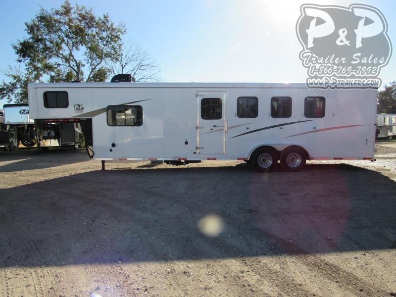 2021 Bison Trailers 7409 Trail Hand 4 Horse Slant Load Trailer 9 FT LQ