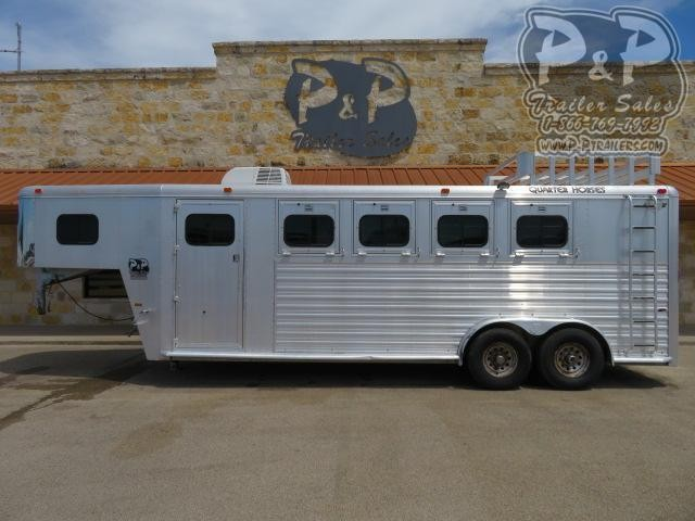 1997 Hart Trailers Silver 4H 4 Horse Trailer Slant