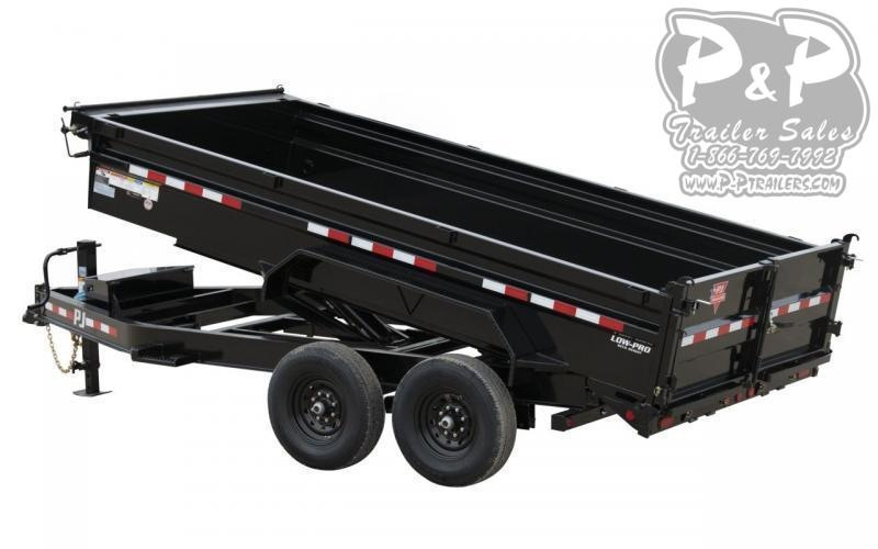2021 PJ Trailers 14K Low-Profile Dump Pro (DL) DLA1692BSSK 16 ' Dump Trailer