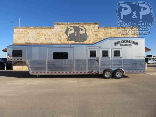 2021 Bloomer 8315PCOLSR 3 Horse Slant Load Trailer 15 FT LQ With Slides w/ Ramps