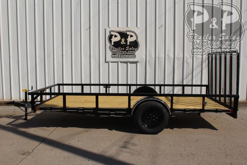"2020 P and P PPSA14X83LDRGPT 83"" x 14 ' Utility Trailer"