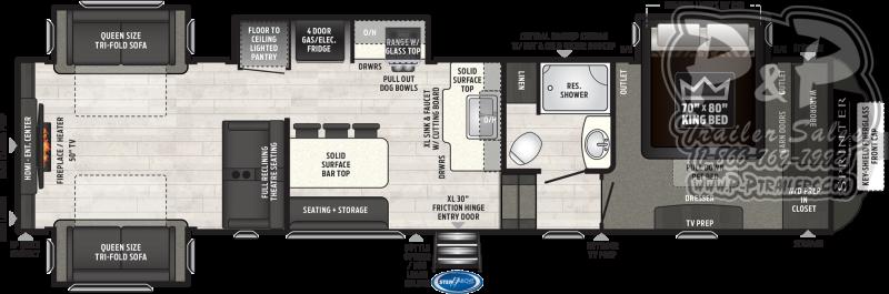 2021 Keystone RV Sprinter Limited 3530DEN Fifth Wheel Campers RV