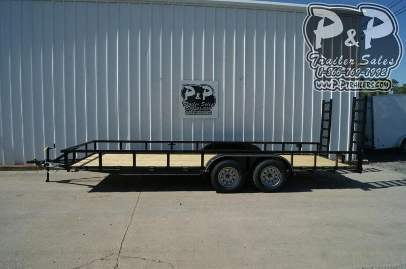 "2020 P and P PPTA20X83MDFURPT 83"" x 20 ' Utility Trailer"