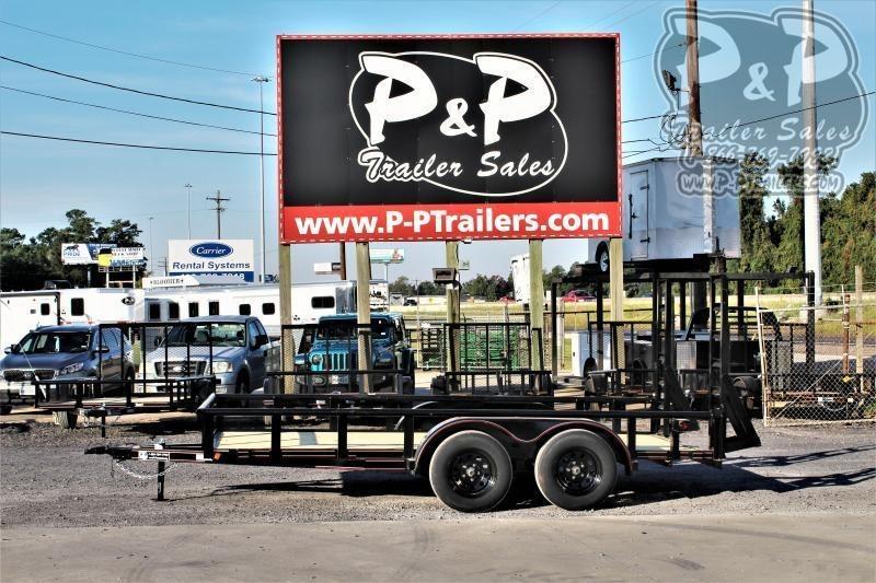 "2021 P and P PPTA14X83LDFURPT 83"" x 14 ' Utility Trailer"