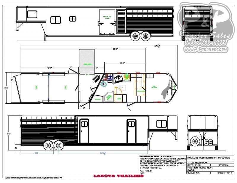 2021 Lakota LE81611SR 33 ' Livestock Trailer LQ