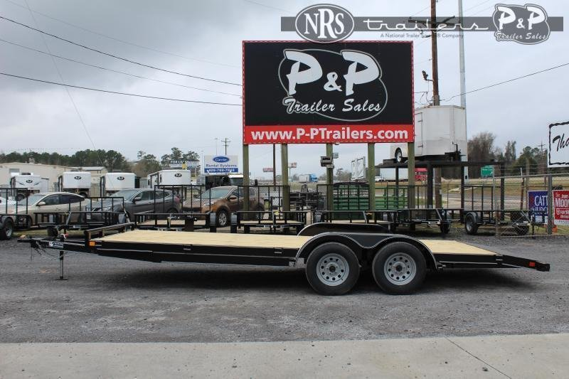 2021 P and P PPWFCH20X83GDSR Car Hauler 20 ' Flatbed Trailer