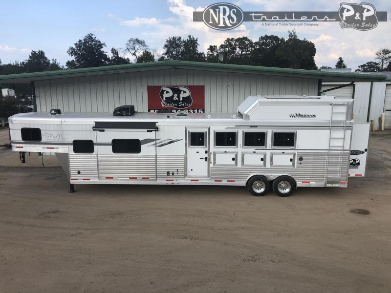 2021 SMC Horse Trailers SL8413SSRRSL 4 Horse Slant Load Trailer 13 FT LQ w/ Slideouts