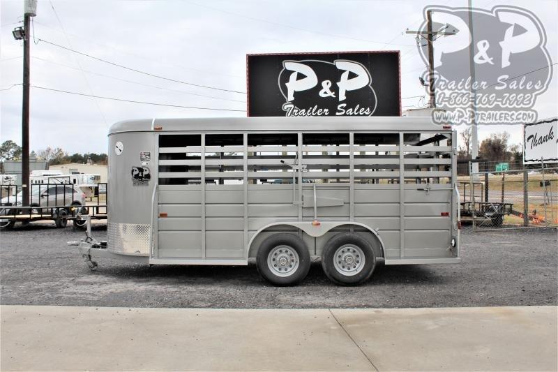 2021 W-W Trailer 16x6 All Around 16 ' Livestock Trailer
