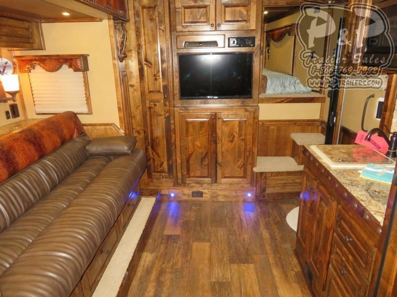 2020 Bloomer PC Load Outlaw Conversion w/ Bunk Beds 4 Horse Slant Load Trailer 17.75 FT LQ With Slides w/ Ramps