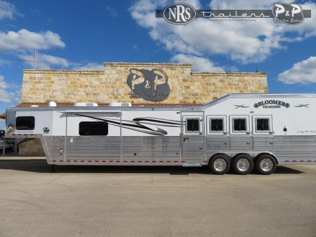 2020 Bloomer PC Load Outlaw Conversion w/ Bunk Beds 4 Horse Slant Load Trailer 17.75 FT LQ w/ Slideouts
