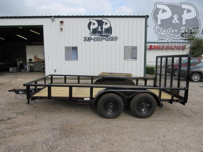 2020 P and P PPTA14X83LDRGPT 14 ' Utility Trailer