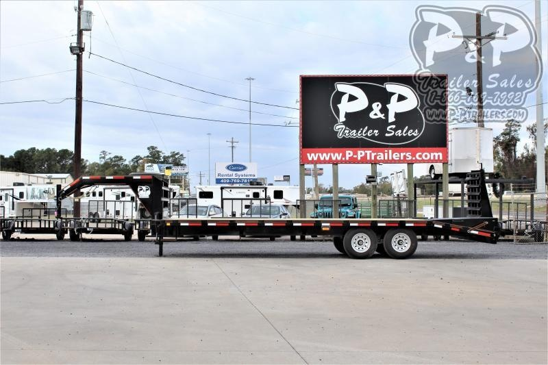 2021 P and P PPGN20+5x102HDMRLP 25 ' Flatbed Trailer