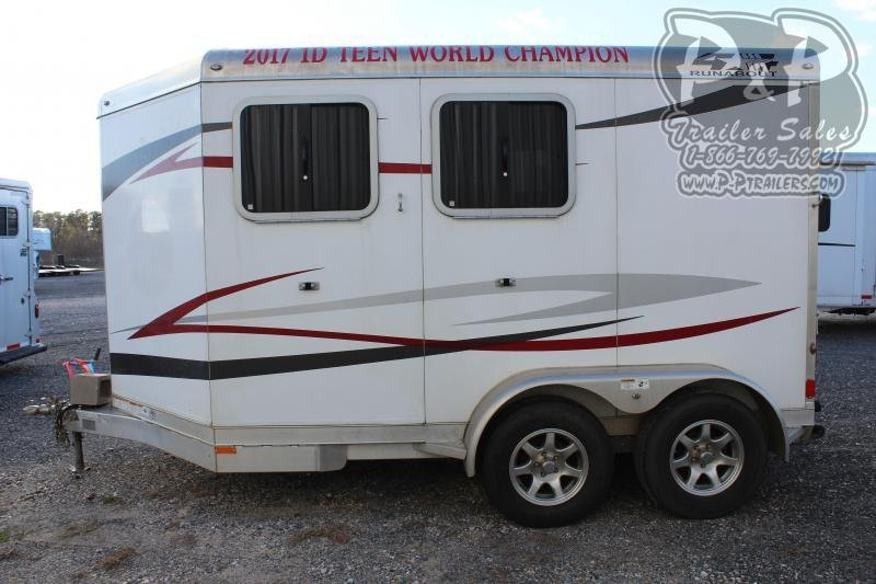 2018 4-Star Trailers Runabout 2HBP 2 Horse Slant Load Trailer