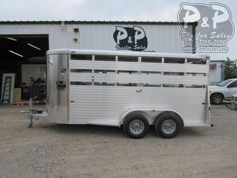 2020 W-W Trailer All Alum 6' Wide 16 ft Livestock Trailer