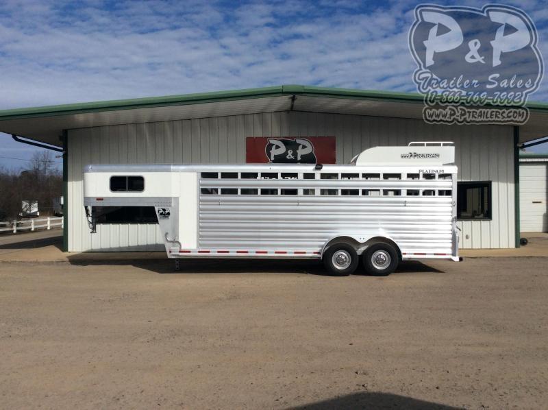 2021 Platinum Coach 722STK 22 ' Livestock Trailer