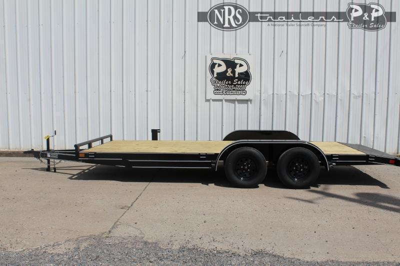 """2021 P and P PPWFCH18X83GDSR 83"""" x 18 ' Flatbed Trailer"""