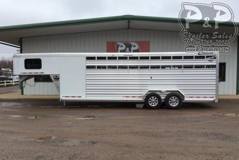 2020 Cimarron Trailers Lonestar LS24GFTR 24 ' Livestock Trailer