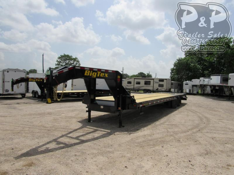 2021 Big Tex Trailers 22GN-30BK5MR Flatbed Trailer