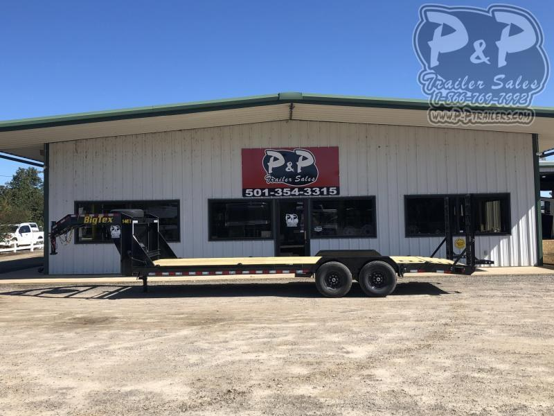2021 Big Tex Trailers 14ET 24GN 24 Flatbed Trailer