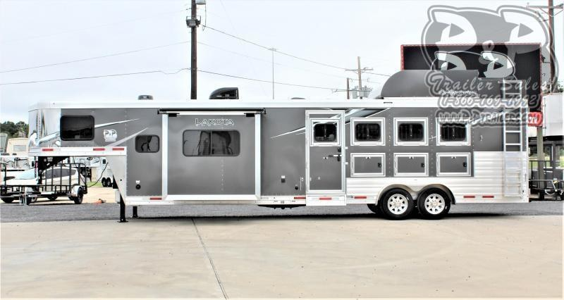 2021 Lakota Charger C8413SR 4 Horse Slant Load Trailer 13 FT LQ w/ Slide