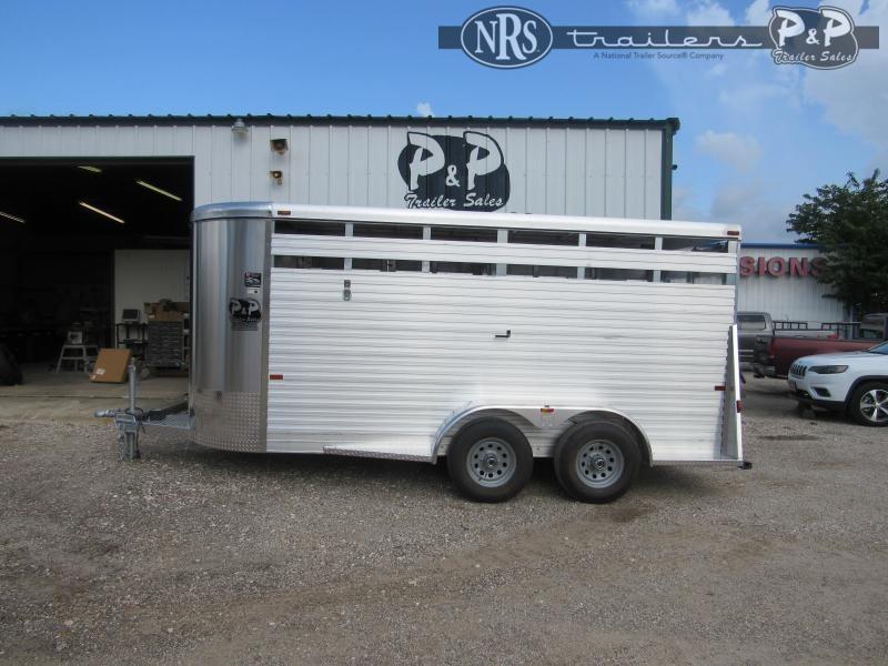 2022 W-W Trailer Aluminum Stocker 6x16 16 ' Livestock Trailer