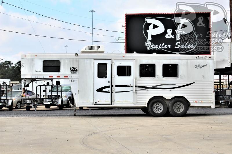 2007 Cherokee 3H 4SW 3 Horse Slant Load Trailer 0 FT LQ