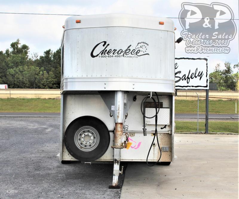 2007 Cherokee 3H 4SW 3 Horse Slant Load Trailer 4 FT LQ