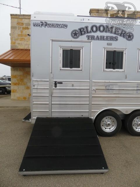 2021 Bloomer 8415PCOL 4 Horse Slant Load Trailer 15 FT LQ With Slides w/ Ramps