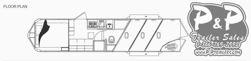 2021 Lakota Charger C39NS 3 Horse Slant Load Trailer 9 FT LQ