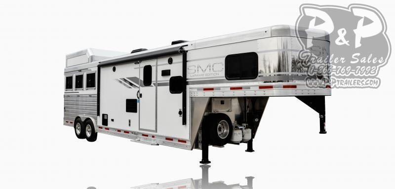 2021 SMC Horse Trailers SL8X11SFK LARAMIE 3 Horse Slant Load Trailer 11 FT LQ With Slides