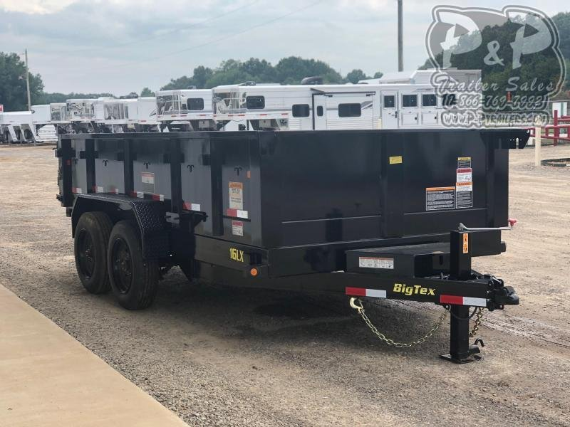 2019 Big Tex Trailers 16LX-14BK7SIRPD 14 ' Dump Trailer