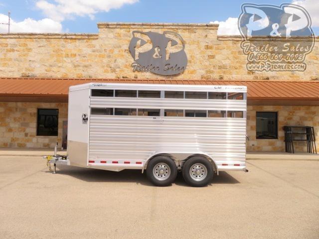 """2021 CM 16' Stocker ALV 192 """" Livestock Trailer"""