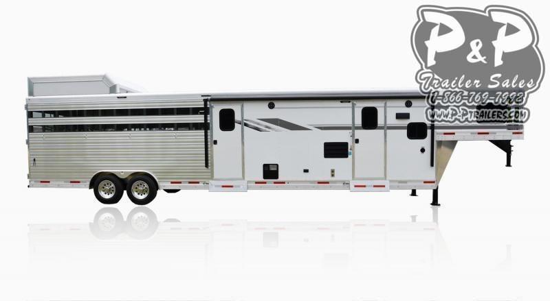 2021 SMC Horse Trailers SLE8X11SFK LARAMIE 11FT Livestock Trailer LQ