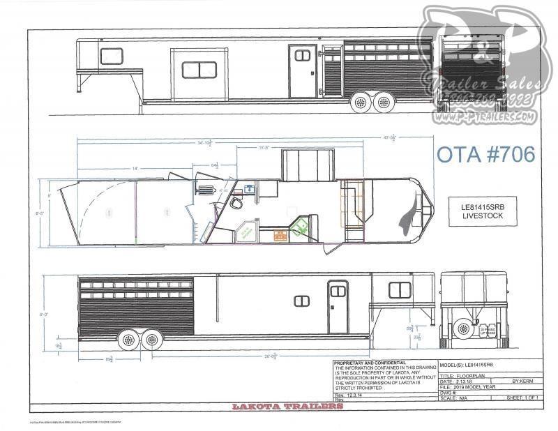 2021 Lakota Charger LE81415 35 ' Livestock Trailer LQ
