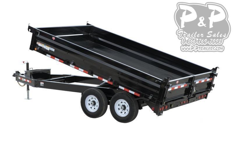 2021 PJ Trailers 96 in. Deckover Dump (D8) Dump Trailer