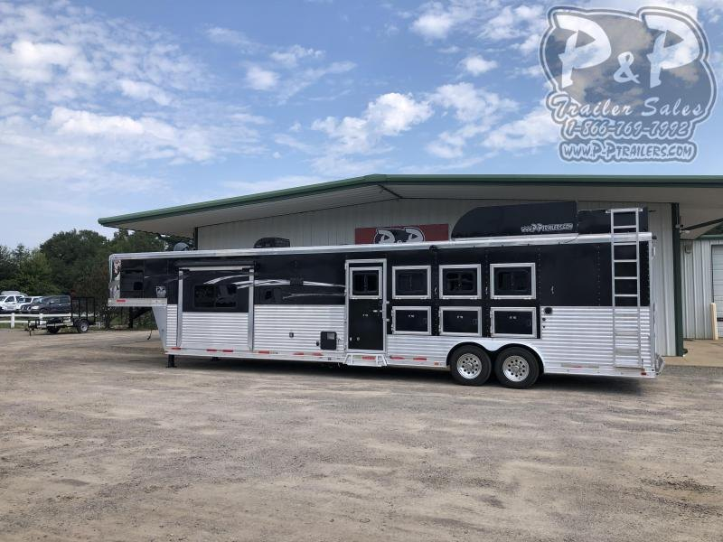 2016 Lakota Charger 8415RSL 4 Horse Slant Load Trailer 15'  LQ w/ Slide Rear Side Load